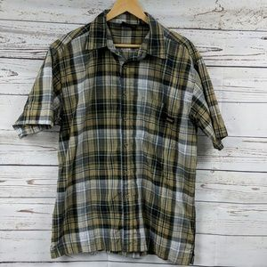 Dickies plaid button up shirt size L (42-44)